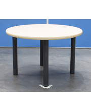 Billy Kidz Round Table 800 x 800mm Birch - Charcoal Legs Low 38cm