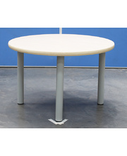 Billy Kidz Round Table 800 x 800mm Birch - Light Grey Legs Low 38cm