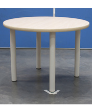 Billy Kidz Round Table 800 x 800mm Birch - Cream Legs Low 38cm