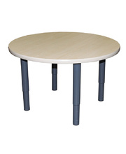 Billy Kidz Round Table 800 x 800mm Birch - Adjustable Charcoal Legs