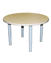 Billy Kidz Round Table 800 x 800mm Birch - Adjustable Light Grey Legs