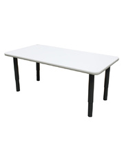 Billy Kidz Rectangle Table 1200 x 600mm Neutral - Adjustable Charcoal Legs