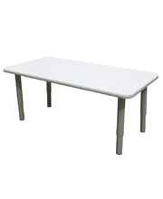Billy Kidz Rectangle Table 1200 x 600mm Neutral - Adjustable Light Grey Legs