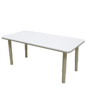 Billy Kidz Rectangle Table 1200 x 600mm Neutral - Adjustable Cream Legs