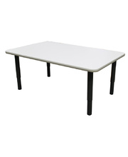 Billy Kidz Rectangle Table 1200 x 750mm Neutral - Adjustable Charcoal Legs
