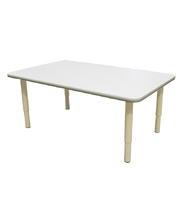 Billy Kidz Rectangle Table 1200 x 750mm Neutral - Adjustable Cream Legs