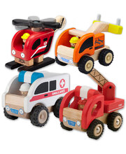 Wonderworld Mini Emergency Services Vehicles - Set of 4