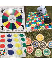 Giant Snakes & Ladders and Dots Games - 18pcs