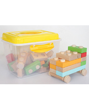 Discoveroo Wooden Block Set - 34pcs