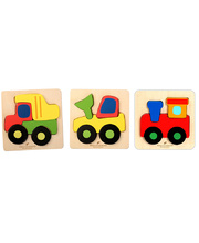 Discoveroo Chunky Tray Puzzles - Vehicles 3pcs
