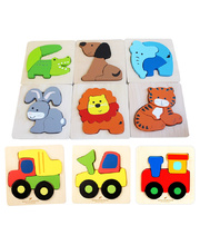 Discoveroo Chunky Tray Puzzles - Animals & Vehicles Set of 9