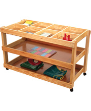 Wooden Collage Craft Trolley - 3 Shelf