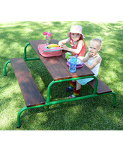 Aussie Play Picnic Table - Hardwood Top and Seat