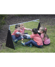 @Aussie Play Aluminium Room Divider Mirror - Straight