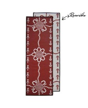 "Recycled Runner Mat Aboriginal Design - ""Emu & Kangaroo Tracks""."