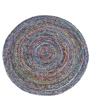 "Recycled Indian Chindi Rug - ""Memphis"" Round 2m"