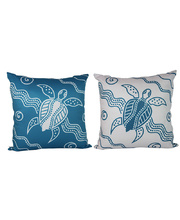 Outdoor Aboriginal Design Cushion - Turtle Journey