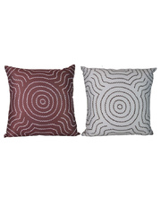 Outdoor Aboriginal Design Cushion Cover Only - Water Dreaming