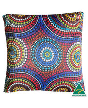 Outdoor Aboriginal Design Cushion - Family