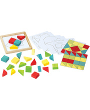 Voila Basic Versa Tiles Wooden Puzzle/Game
