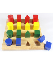 Shape & Size Board - 19 x 19 x 6cm 17pcs