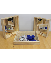 Wooden Mirror Trays - Square 3pcs