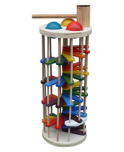 Timber Pound A Ball Tower - 16 x 16 x 40cmH