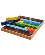 Timber Montessori Counting Rods