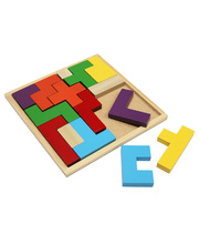 Wooden Tetris Block Puzzle - 15pcs