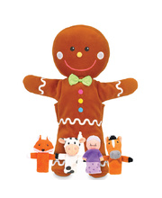 Hand & Finger Puppet Set - Gingerbread Man