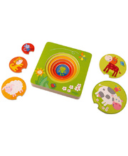 Haba Wooden Layer Puzzle - Farm 5pcs