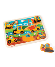 Janod Chunky Puzzle - Construction 7pcs