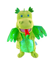 Fiesta Crafts Hand Puppet - Green Dragon 28cm