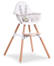 Evolu 2 High & Low Feeding Chair - Natural & White
