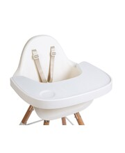 Evolu 2 High & Low Feeding Chair - White Chair with White Tray