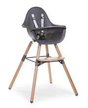 Evolu 2 High & Low Feeding Chair - Natural & Grey