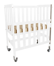 Tikk Tokk Aspen Ergonomic Cot - White with Mattress