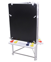 MYO Easel Outdoor Aluminium - Triple Magnetic White/Chalk Board
