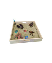 Timber Sand Play Tray with Clear Base