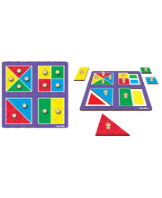 Tuzzles Colour Match Shapes Peg Puzzle - 12pcs