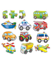 Tuzzles Three Piece Puzzles - Transport Set of 10