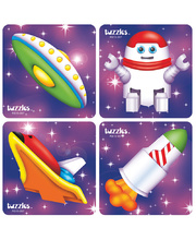 Tuzzles Space Set Raised Puzzle Set of 4