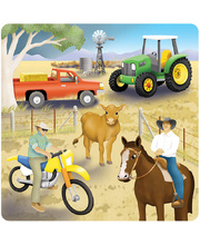 "Tuzzles Raised ""Busy"" Puzzle - Farm 29pcs"