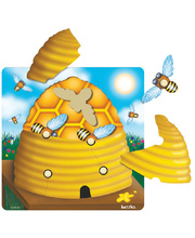 Tuzzles 5 Little Bees Layered Puzzle - 9pcs