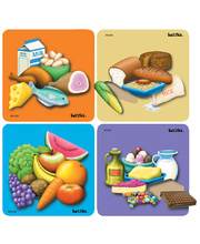 Tuzzles Good Food Guide Raised Puzzles - Set of 4
