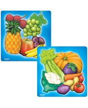Tuzzles Fruit & Vegetables Raised Puzzles - Set of 2