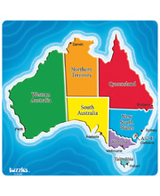 Tuzzles Map of Australia Tray Puzzle - 7pcs