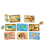 Tuzzles Aboriginal Art Tray Puzzles - Set of 8