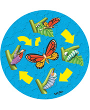 Tuzzles Life Cycle Raised Puzzle - Butterfly 10pcs