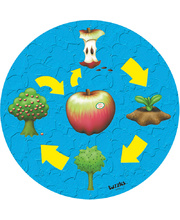 Tuzzles Life Cycle Raised Puzzle - Apple 10pcs
